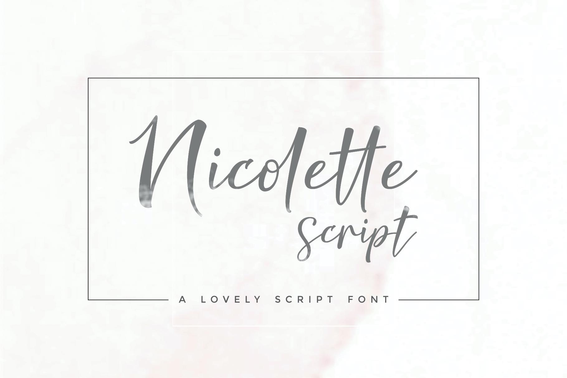 Nicolette Script example image 10