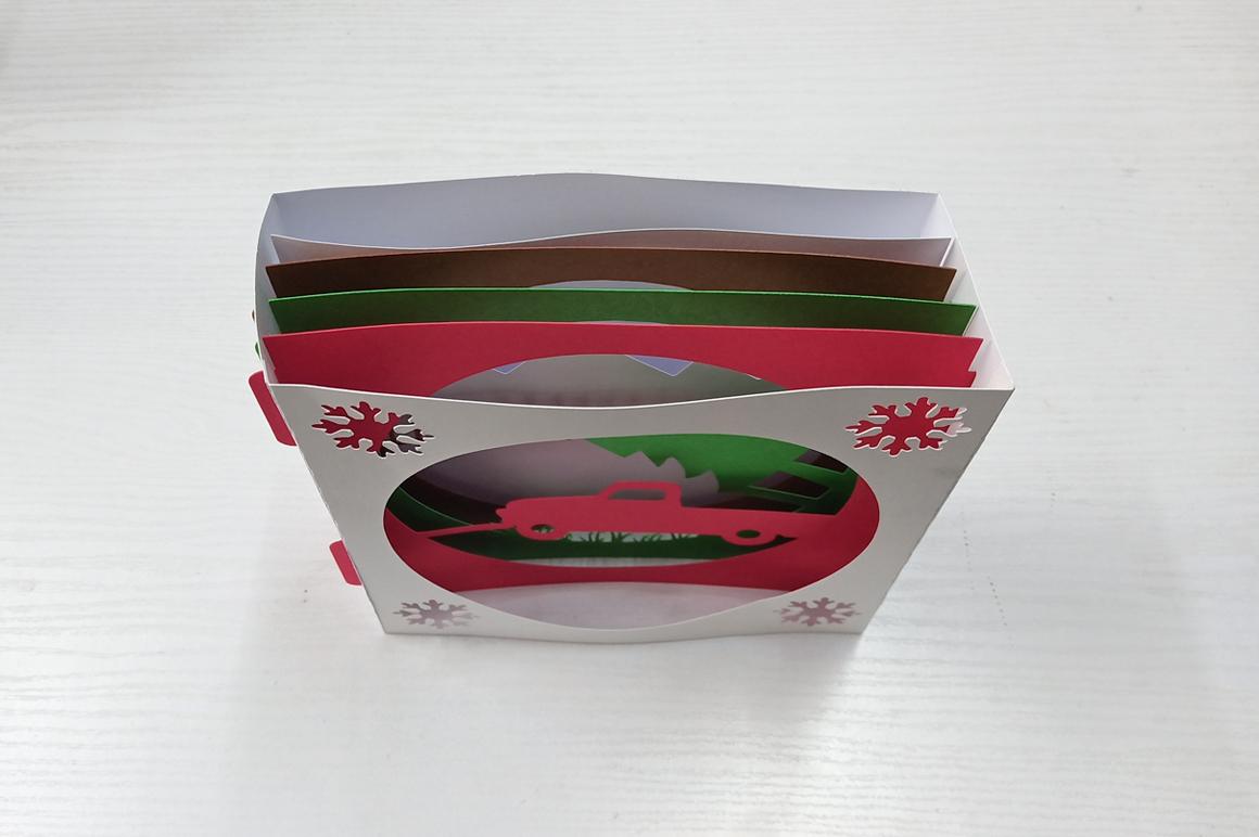 DIY Christmas Card - 3d papercraft example image 6