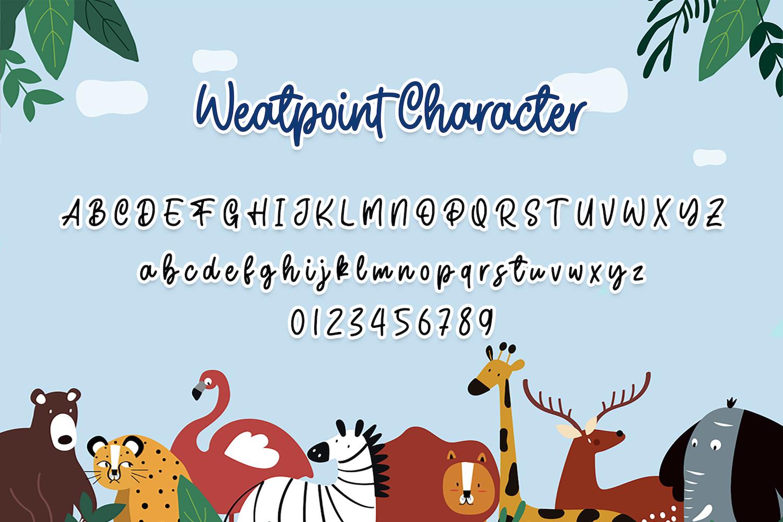 Weatpoint - Playful Script Font example image 12