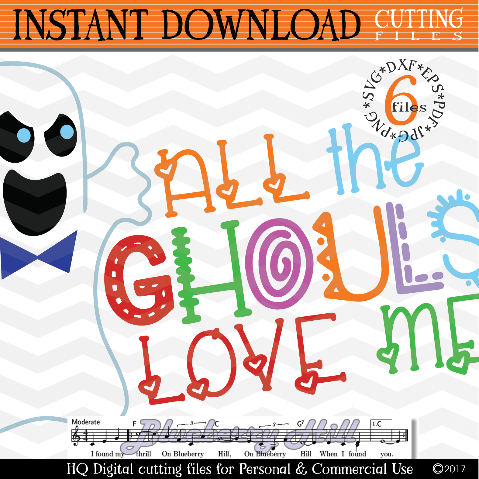All The Ghouls Love Me SVG - Halloween svg cutting files example image 3