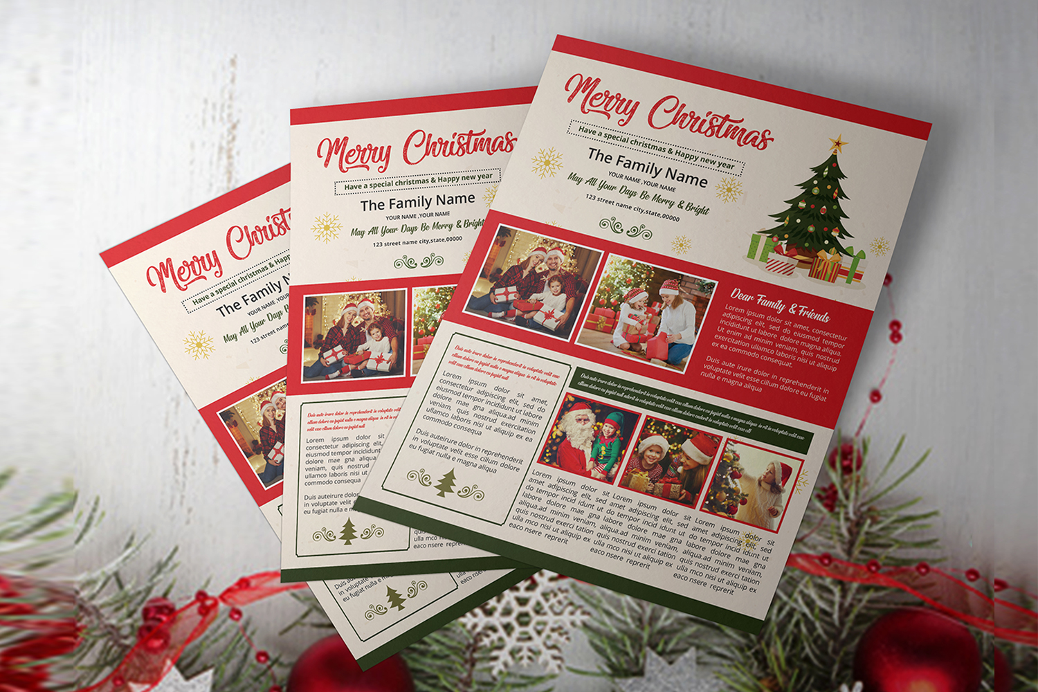 Christmas Newsletter Template example image 3