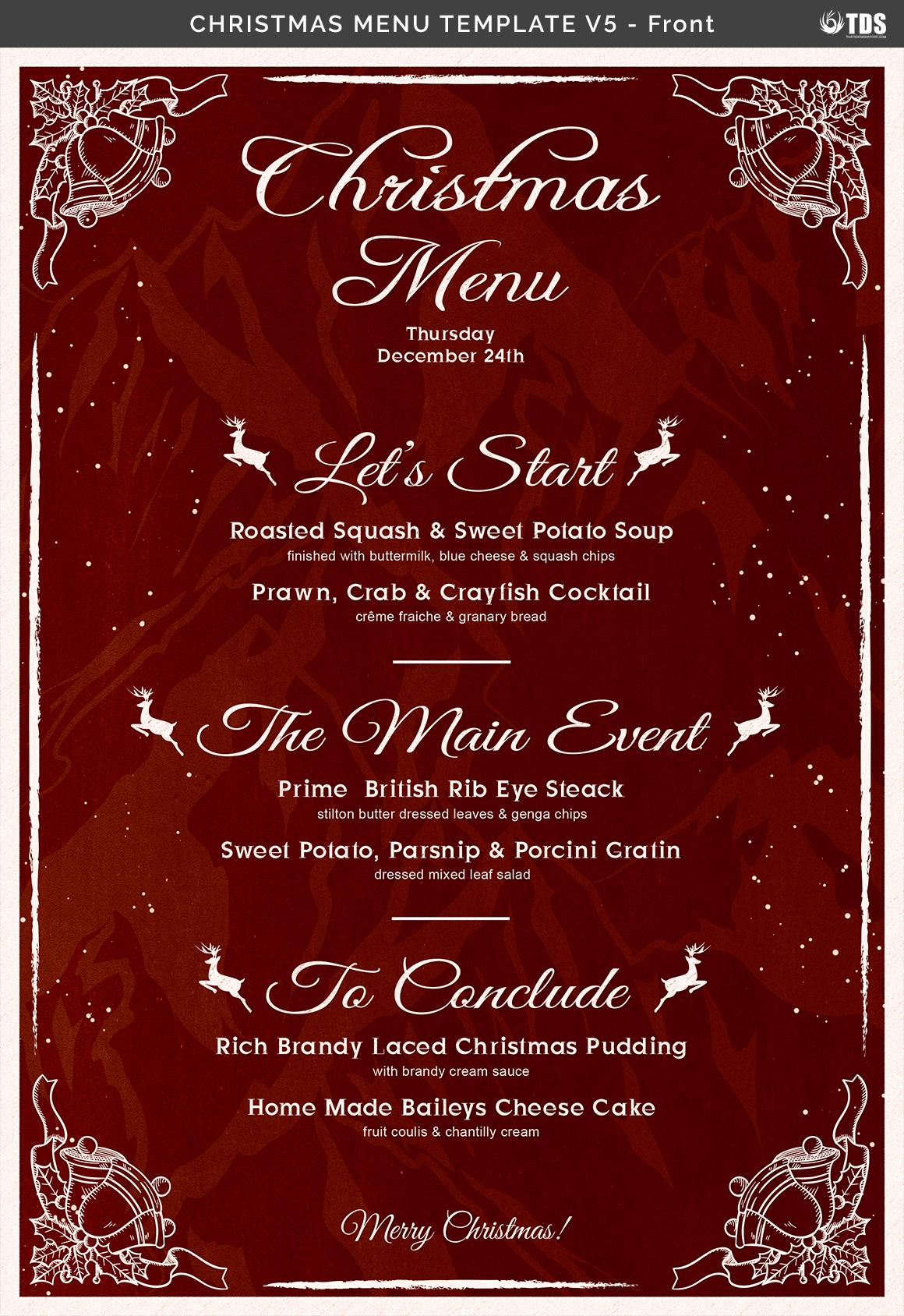 christmas menu template v5