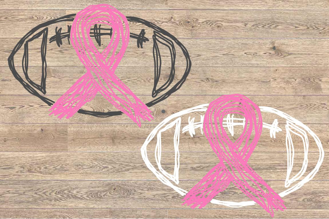 Tackle Breast Cancer Football Svg Awareness ribbon 1563s example image 2
