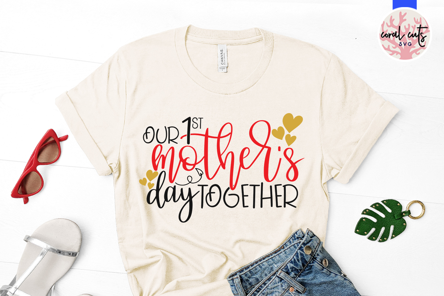Our 1st mother's day together - Mother SVG EPS DXF PNG File example image 2