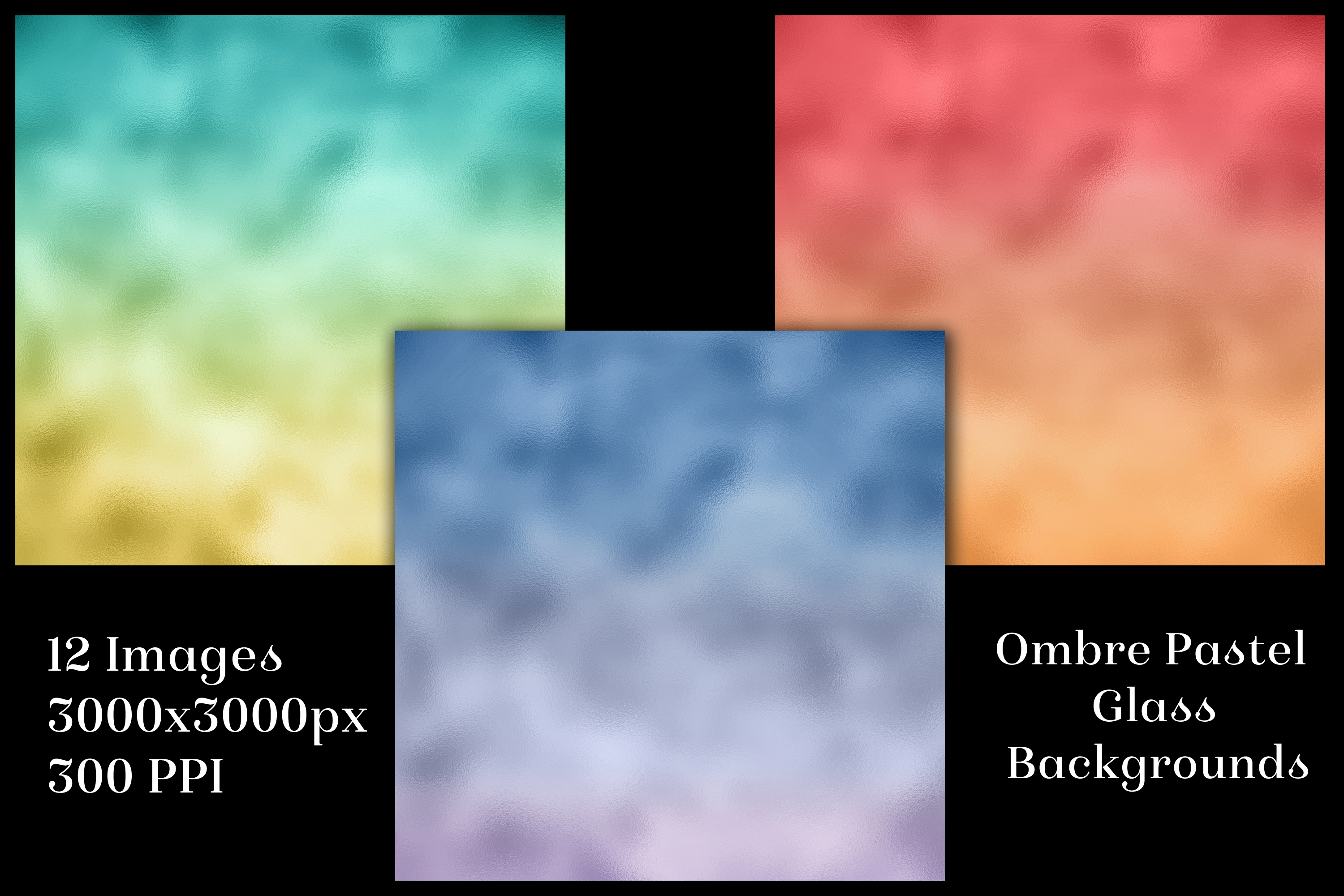 Ombre Pastel Glass Backgrounds - 12 Image Textures Set example image 2