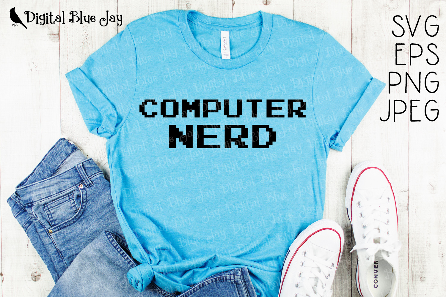 Computer Nerd SVG PNG Cut Files example image 1