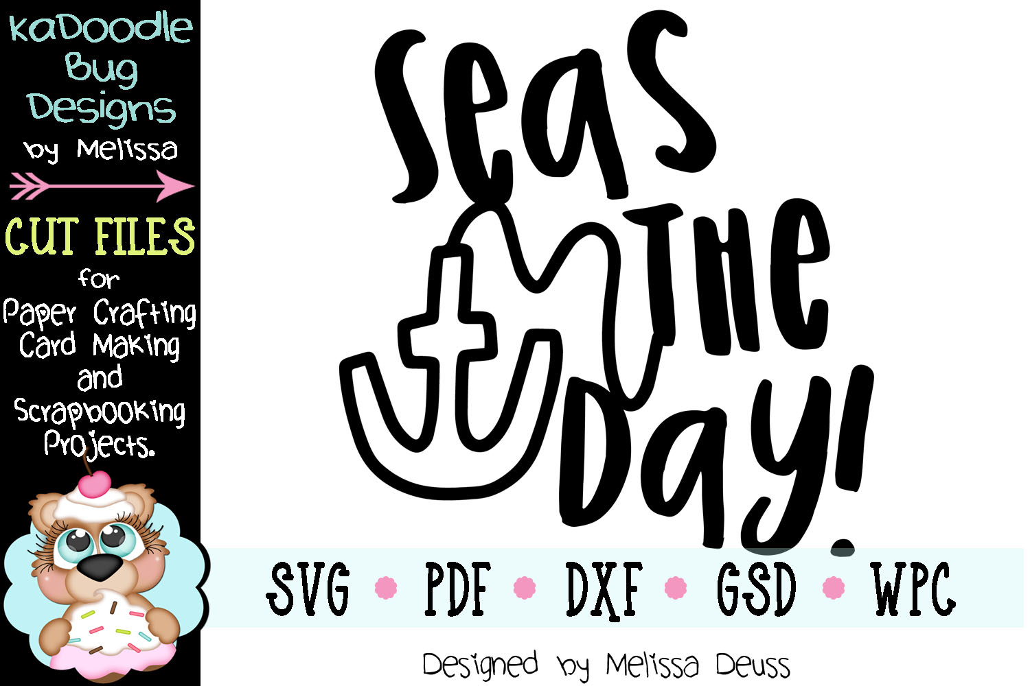 Seas The Day Cut File - SVG PDF DXF example image 2