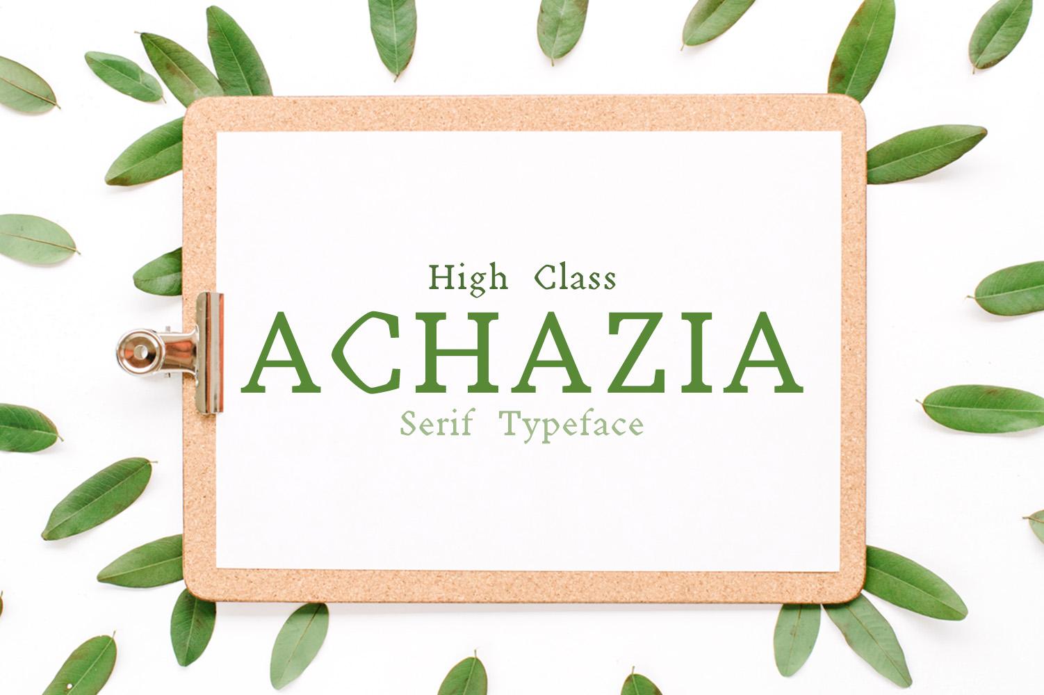 Achazia Serif Typeface example image 1