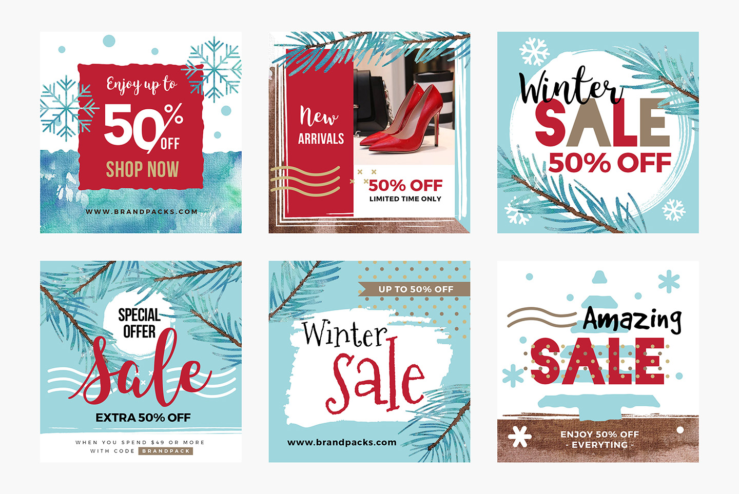 Winter Social Media Templates example image 3