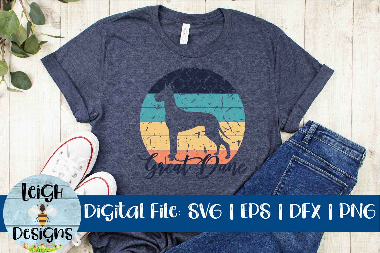 Great Dane Distressed SVG example image 4