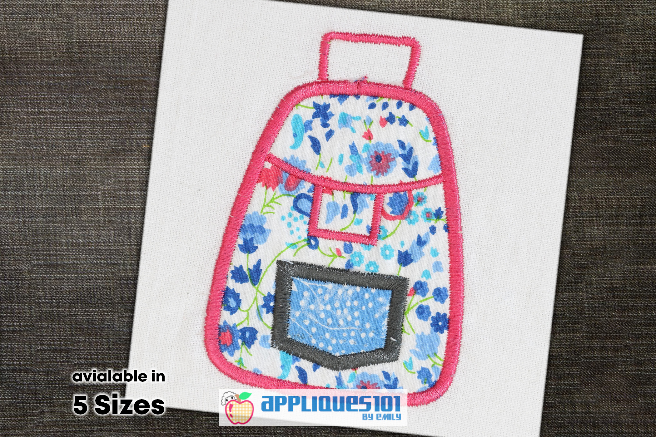 Hand Bag Machine Embroidery Applique Design - Bags example image 1