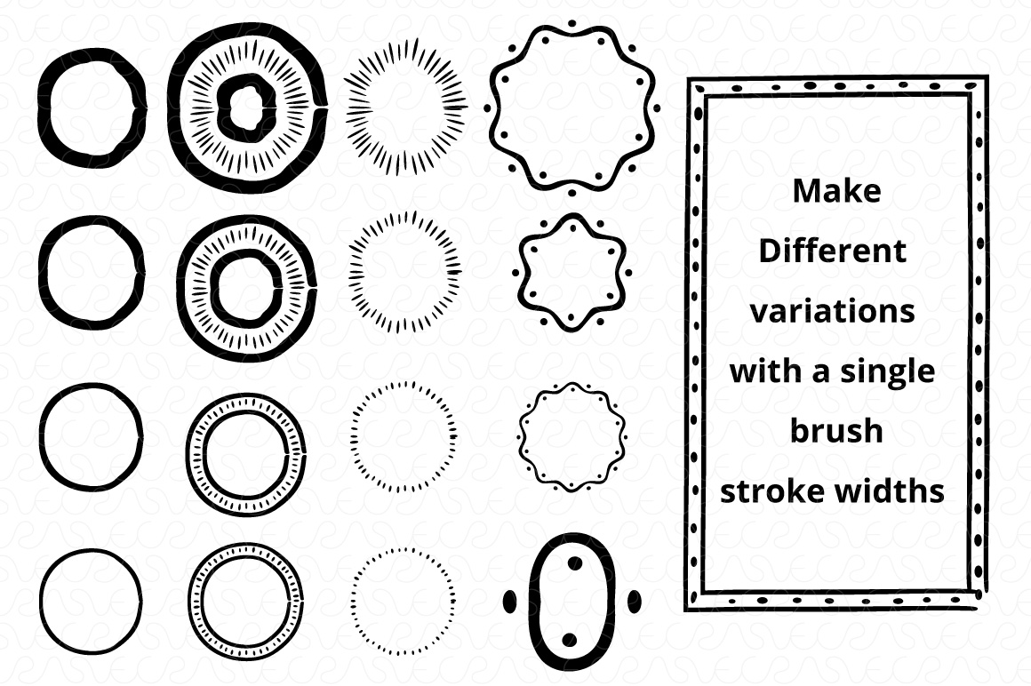 Vector Brushes - Handmade Tribal Style Graphics example image 7