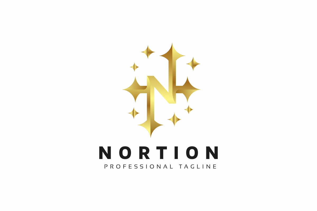 Nortion / N Letter Logo example image 2