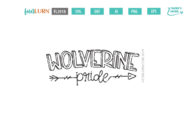 Wolverine Pride Team SVG Cut File example image 2