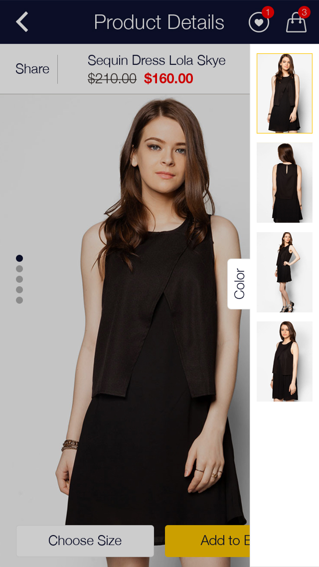 Zalora Shopping UI for e-commerce example image 11
