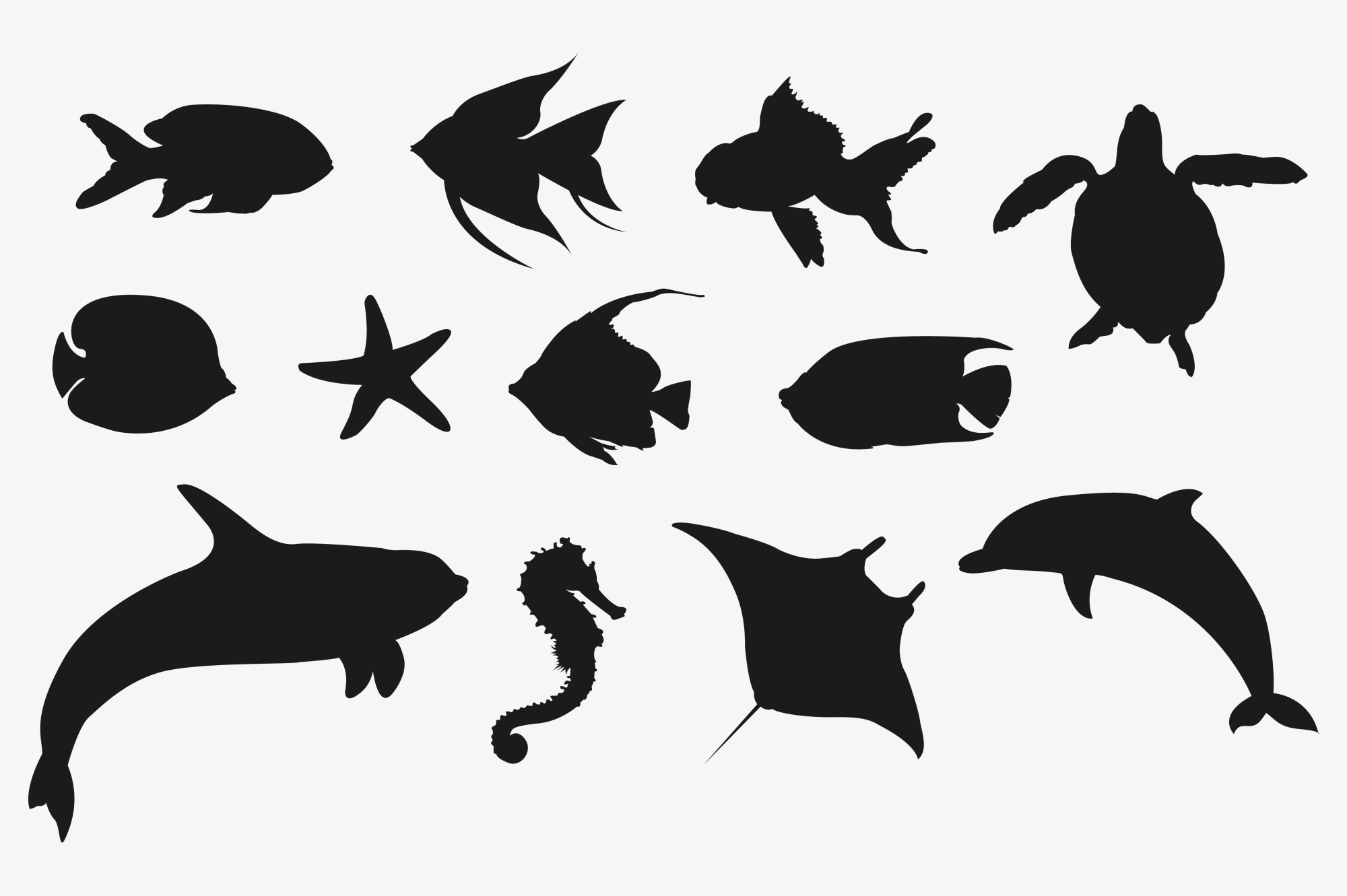 Marine Animal Silhouettes for Crafters example image 2