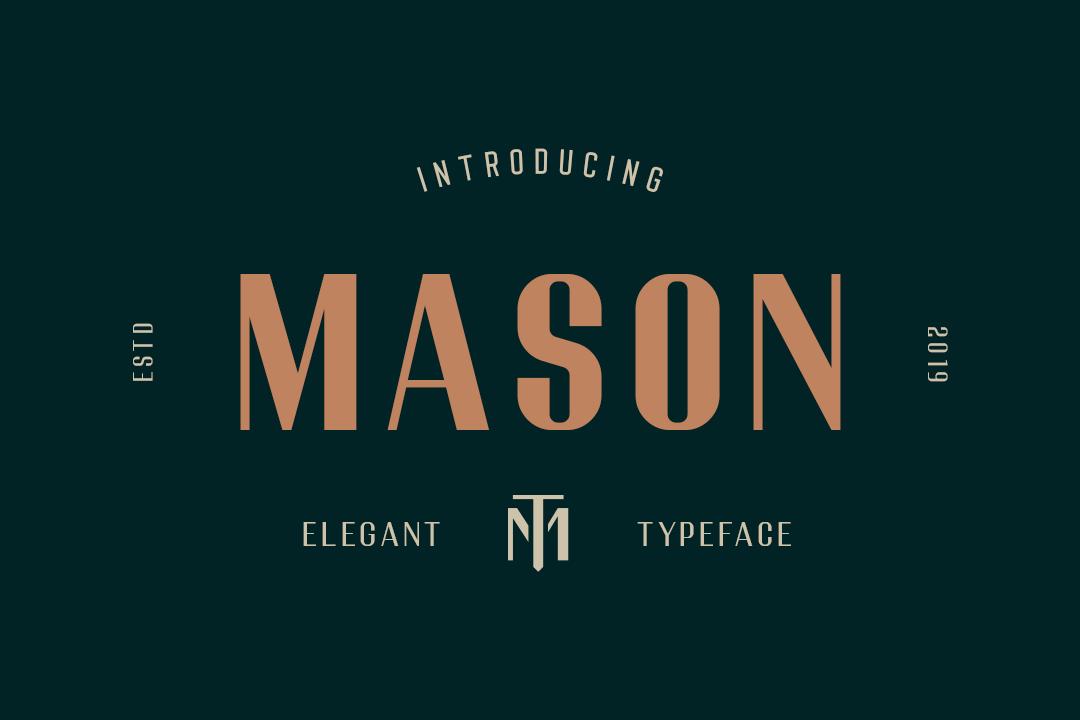 Mason Elegant Typeface example image 1