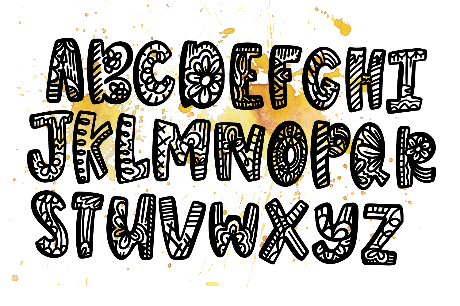 George Lincoln- A Silly Doodle Font example image 7