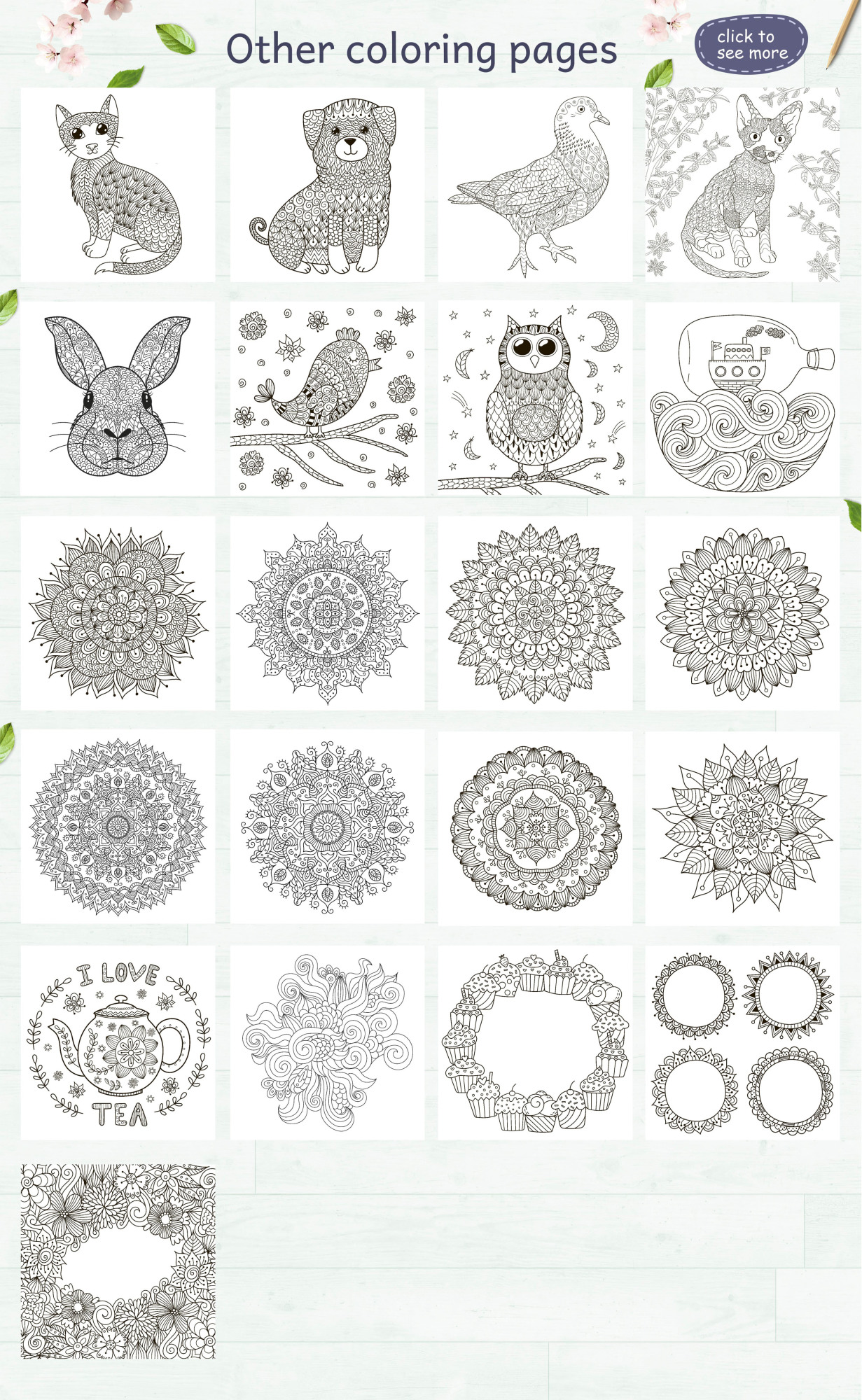 Coloring Pages Big Collection example image 7