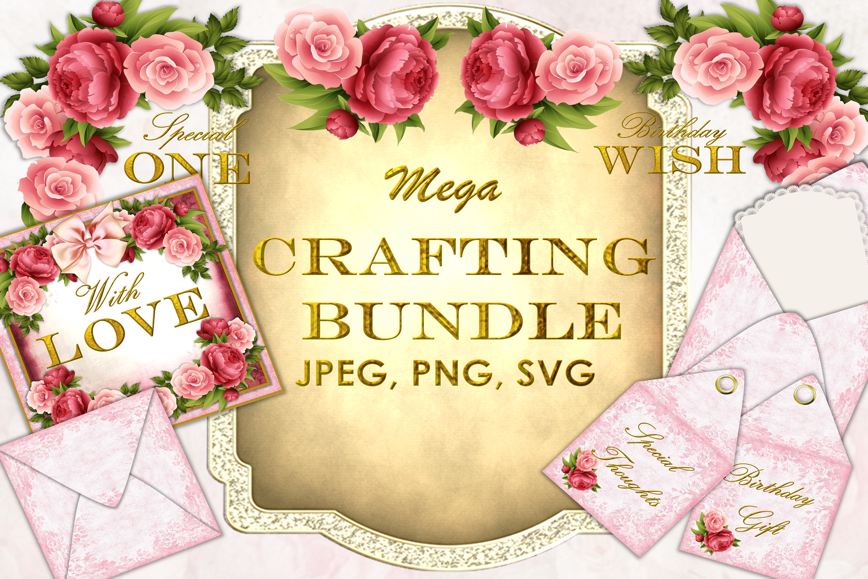 Mega Craft Bundle JPEG, PNG and SVG COmmercial Use example image 1