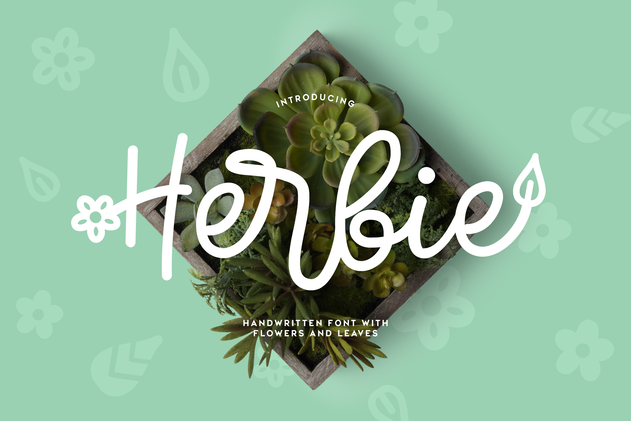 Herbie - A Flowery Font example image 1
