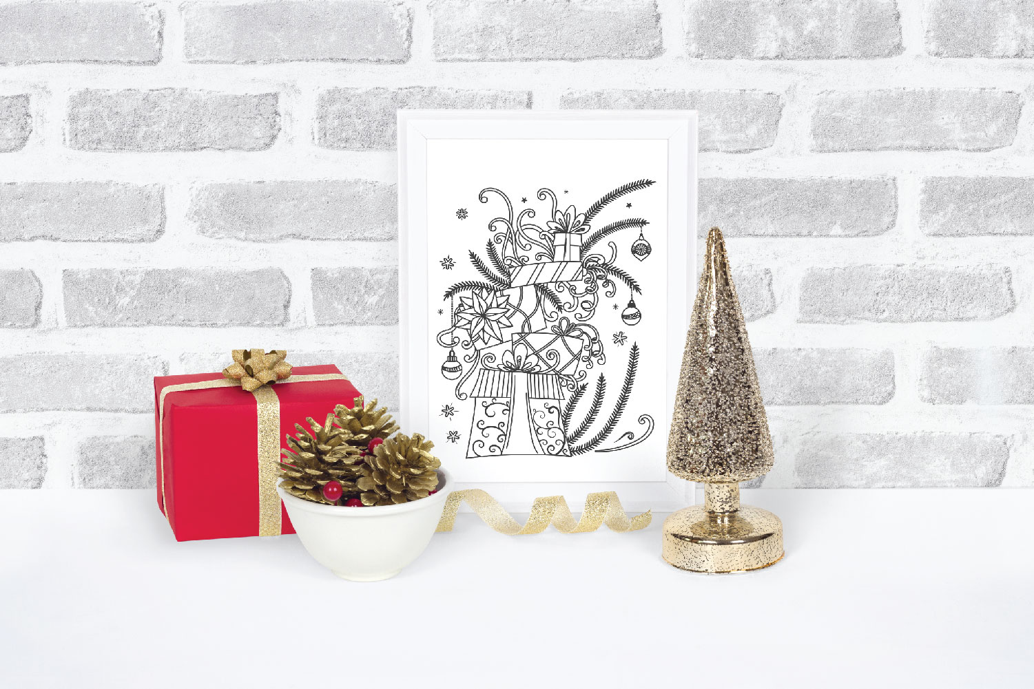 Christmas Gifts Doodles SVG example image 5