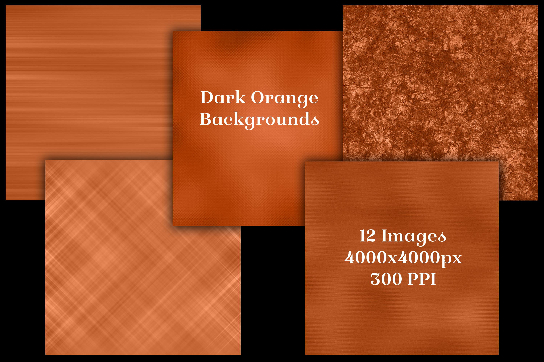 Dark Orange Backgrounds - 12 Image Textures Set example image 2