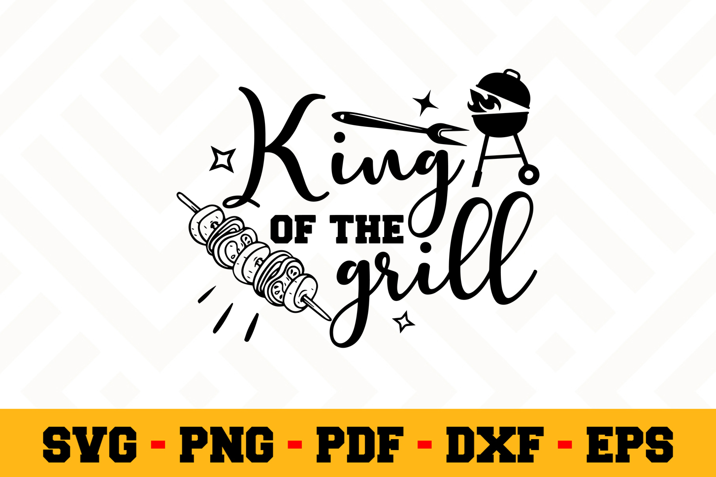 BBQ SVG Design n611 | Barbecue Grill SVG Cut File example image 1