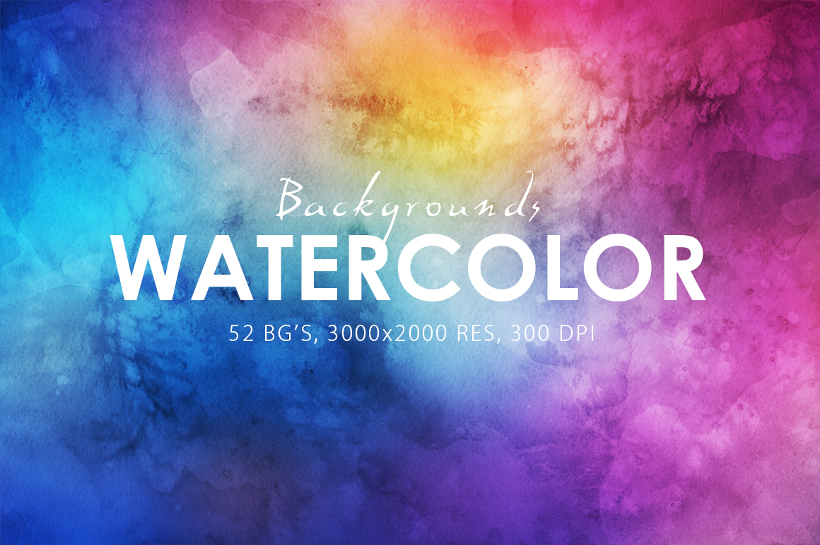Only Watercolor Backgrounds Bundle example image 3
