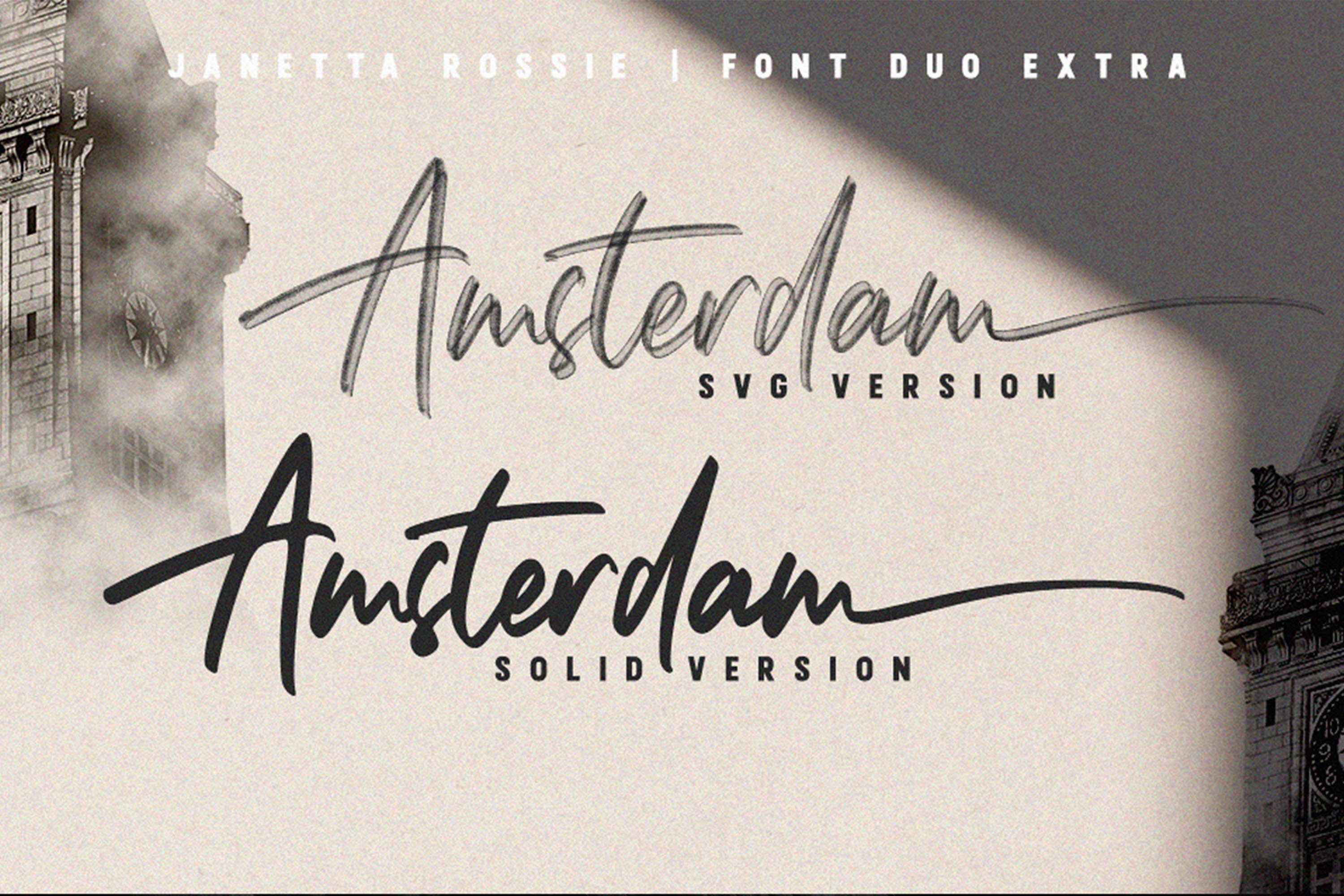 Janetta Rossie | Font Duo SVG extra example image 10