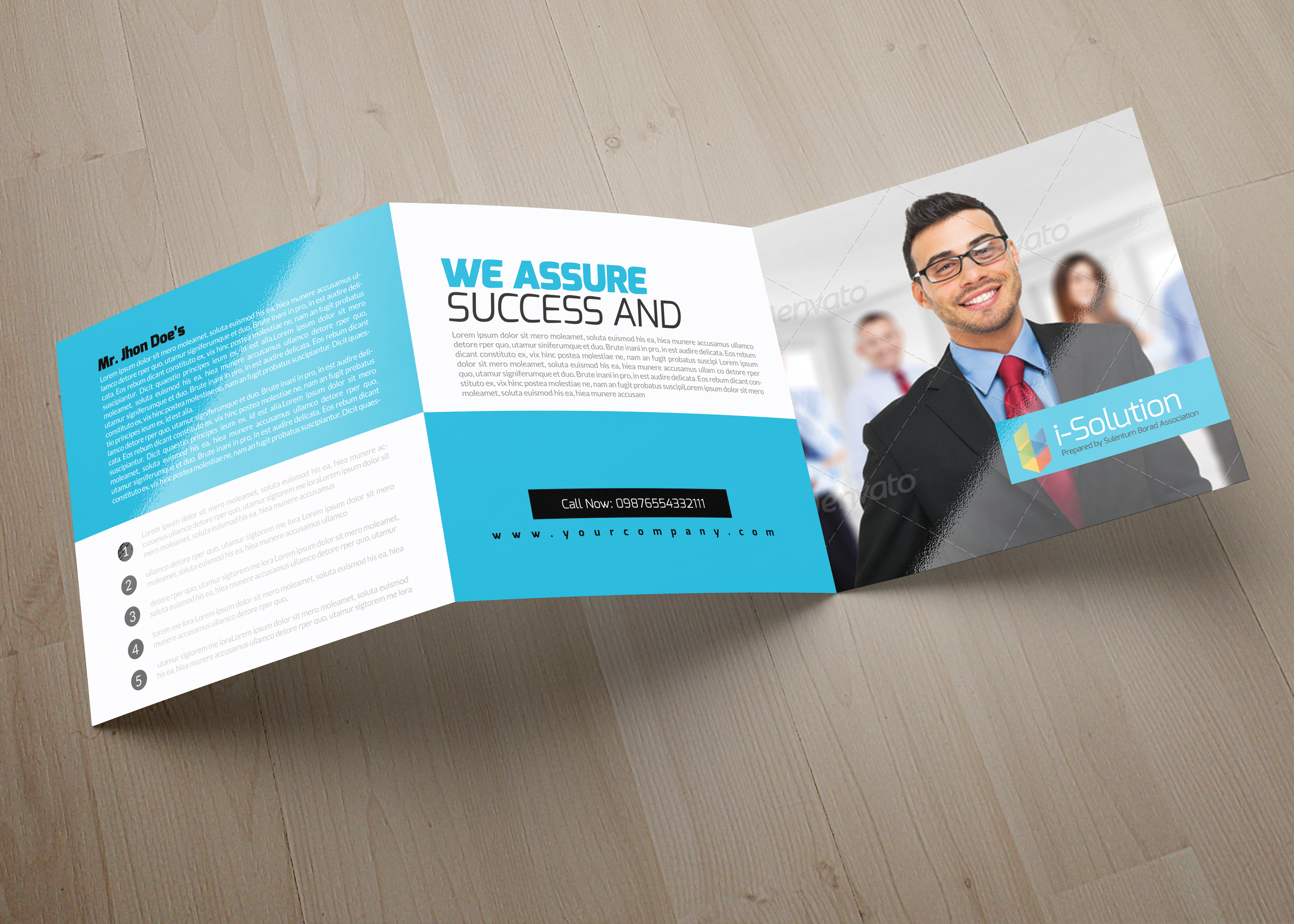 Business Management Square Trifold Brochure example image 4
