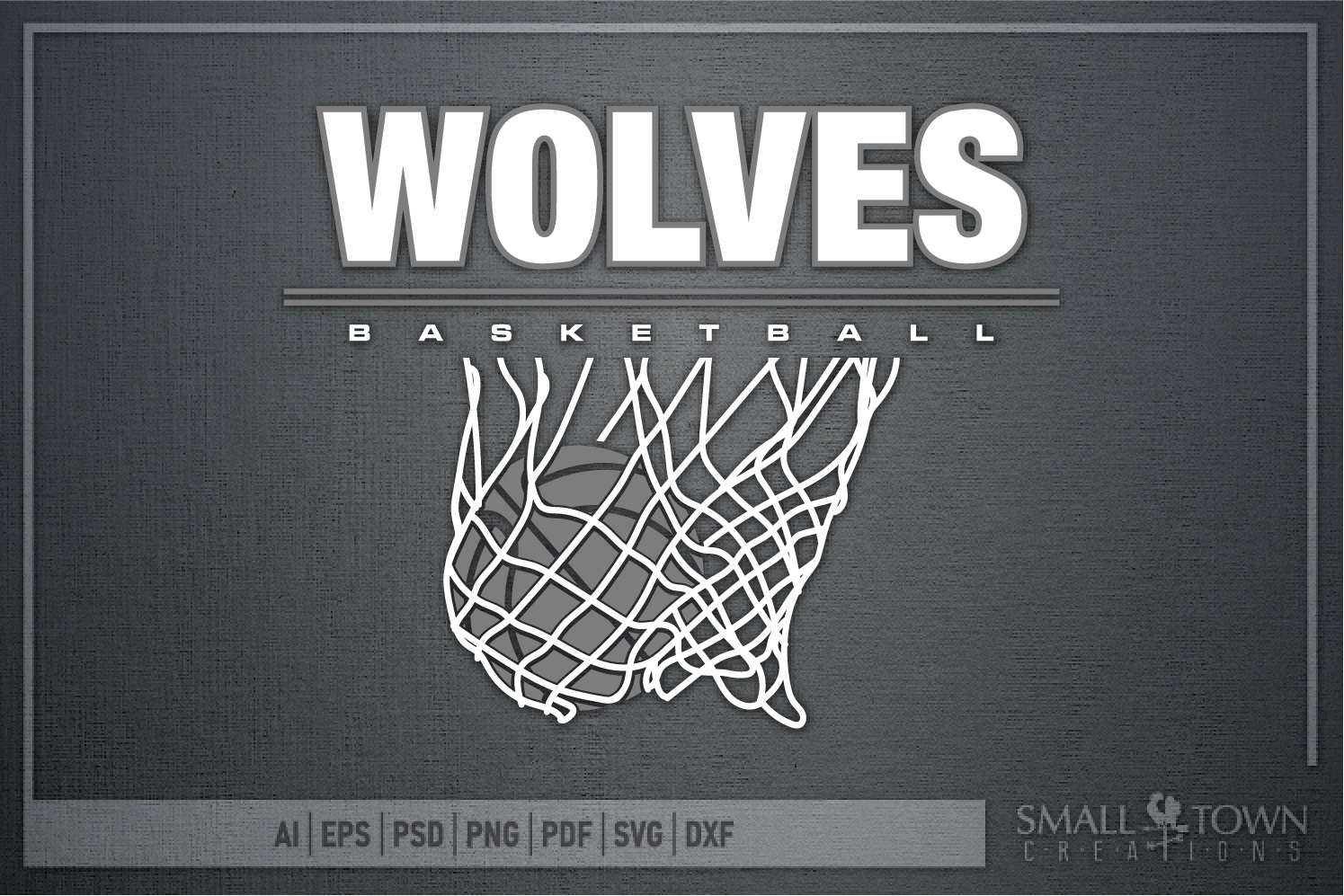 Wolves Basketball, Sport ball, team logo, PRINT, CUT, DESIGN example image 5