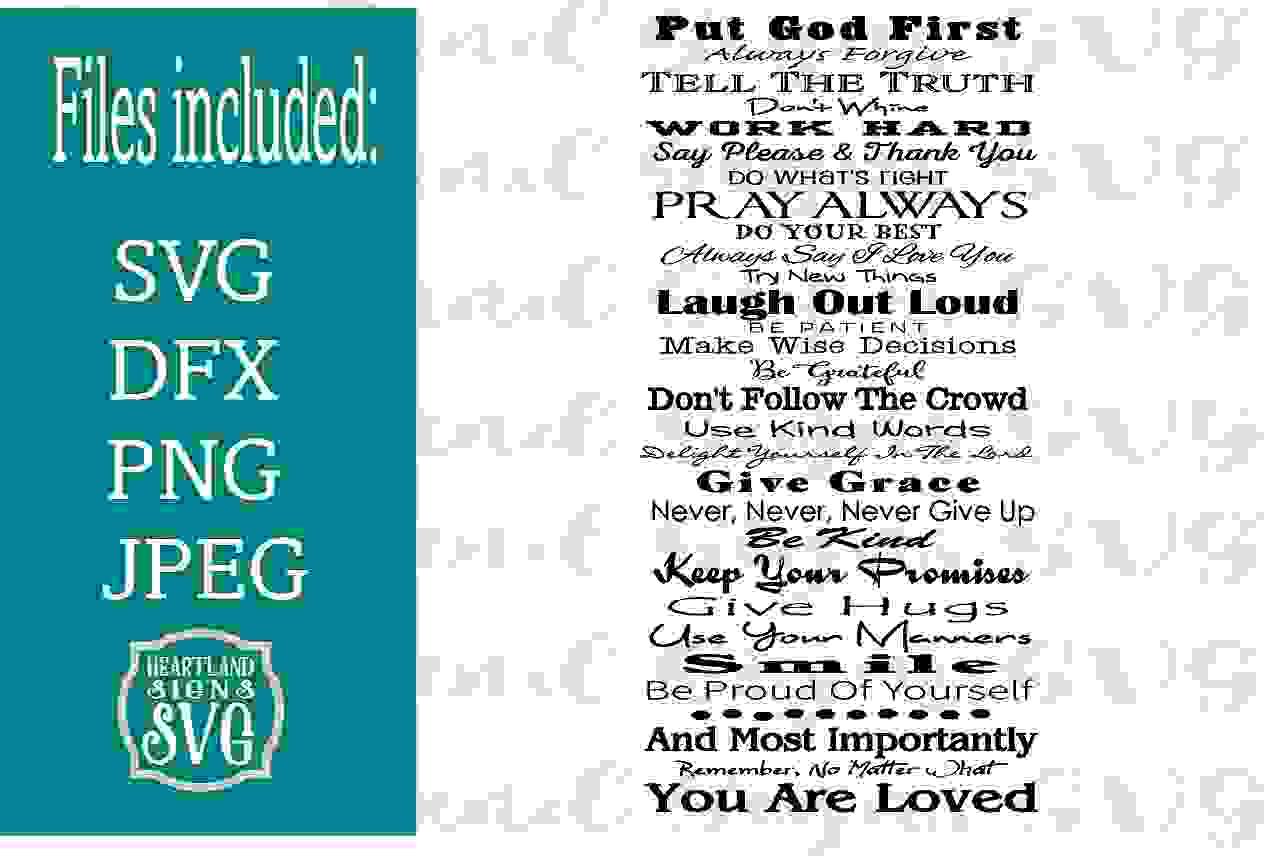 Family Rules Spiritual ReligiouSVG example image 1