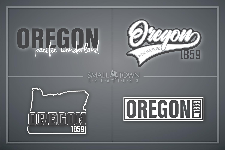 Oregon, Pacific Wonderland - slogan, PRINT, CUT & DESIGN example image 1