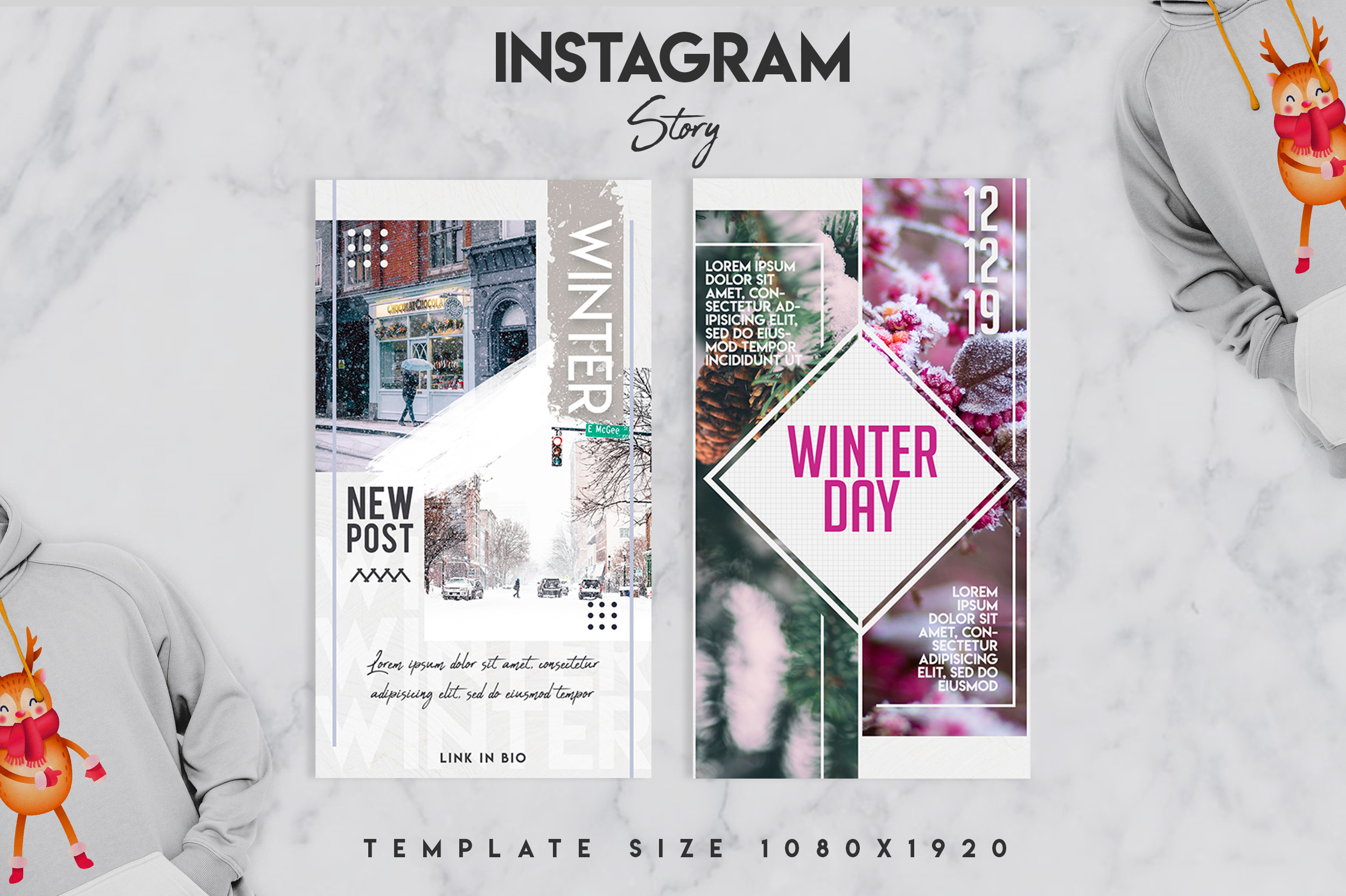 Winter instagram srory set example image 6