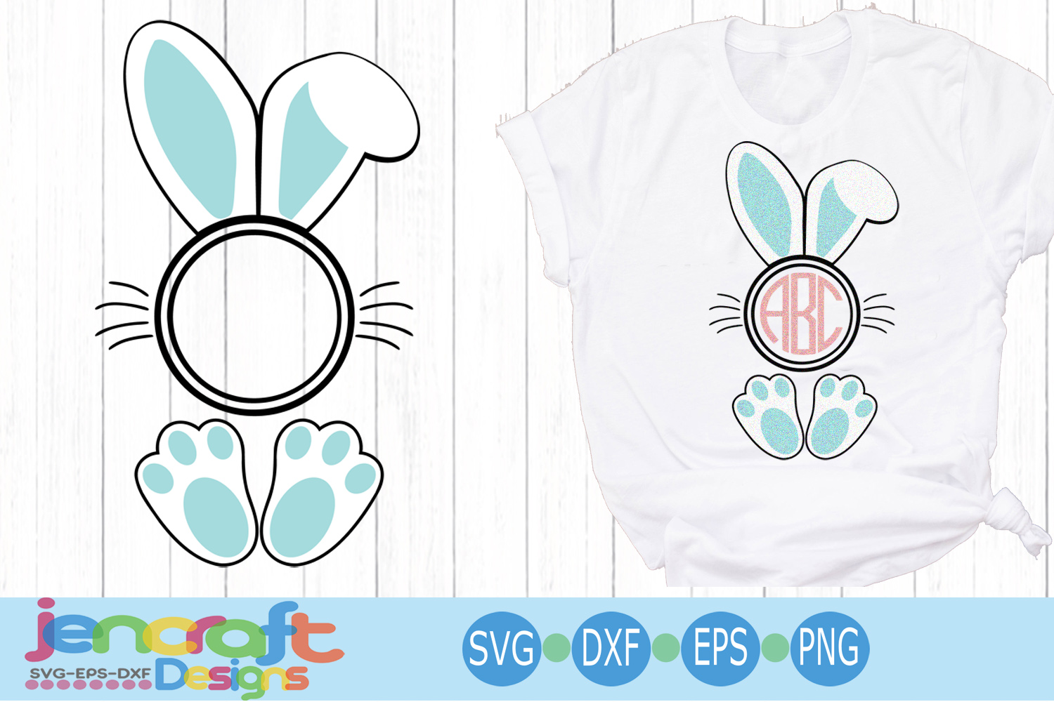 Easter Bunny Ear svg Bunny frame svg, eps, dxf example image 5