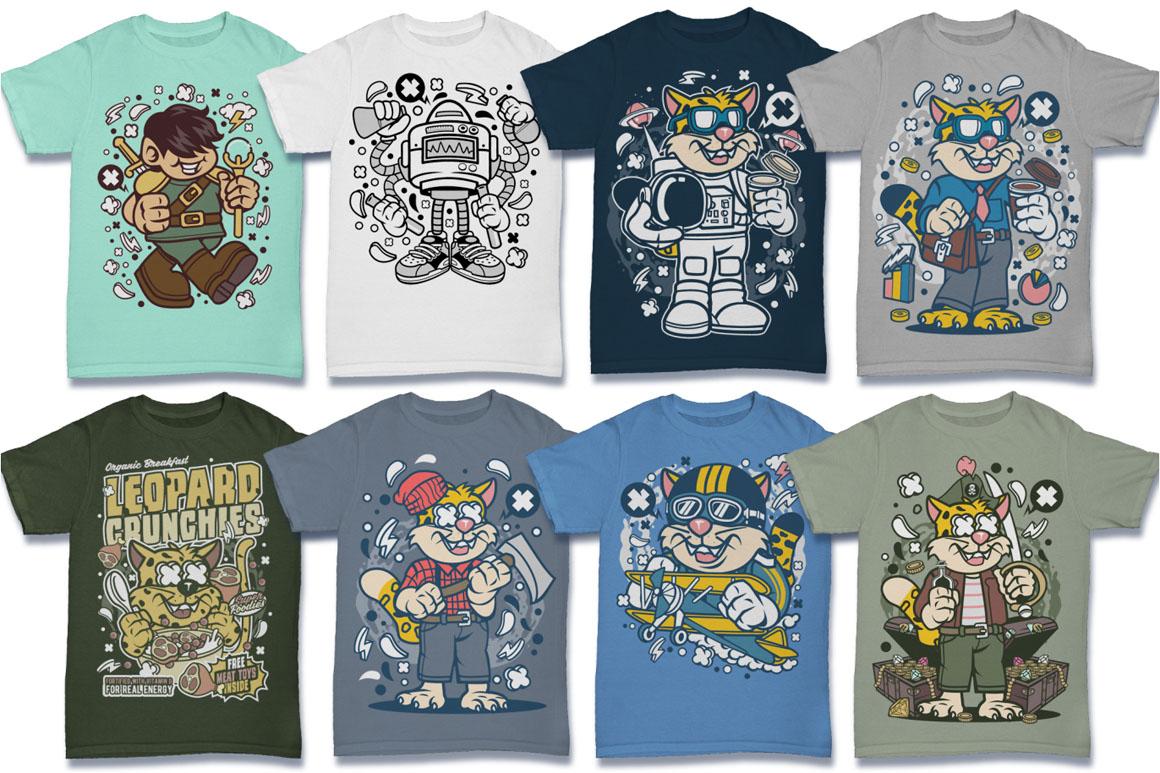 Cartoon Vector #6 Tshirt Design Bundle example image 14