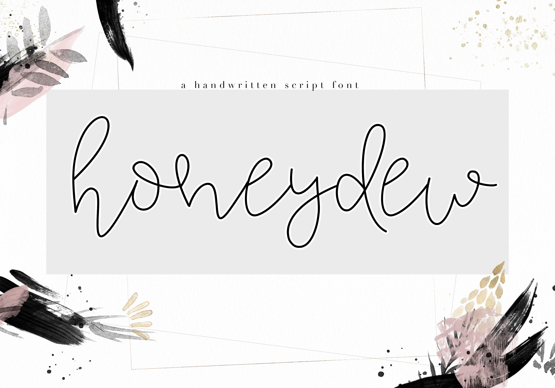 Honeydew - Handwritten Script Font example image 1