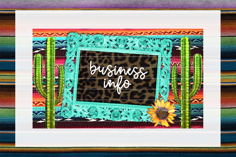 Vintage Frame Business Card Digital Download example image 1