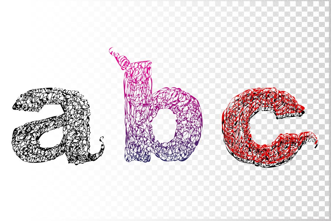 Curly alphabet + 1 decor element. example image 5