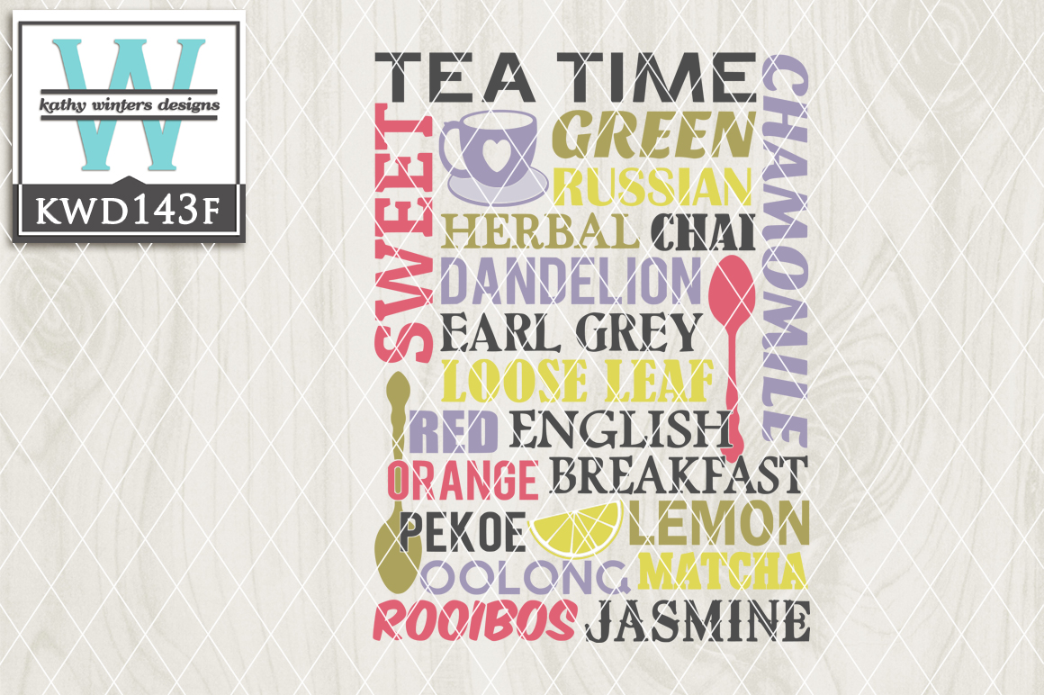 Tea Cutting File KWD143F example image 1