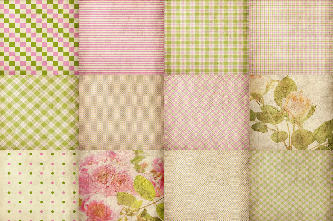 55 Romantic Vintage Background Papers example image 2