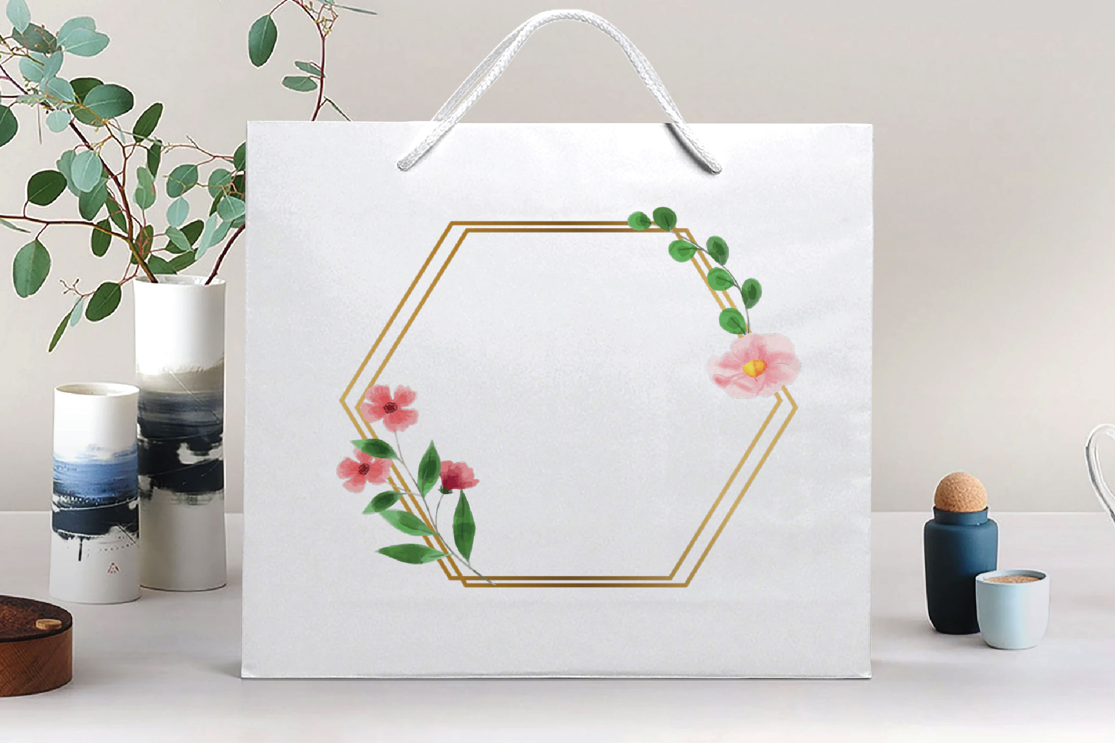 Golden Floral Frames Clip Art. Wedding geometric borders png example image 5