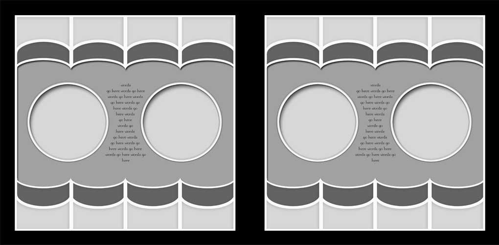 Digital Scrapbook Templates Bundle 3 example image 12