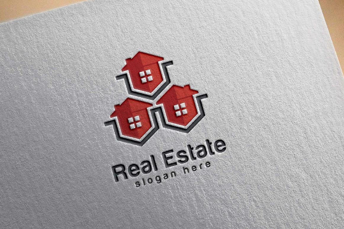 Real Estate logo, Abstract home logo example image 5