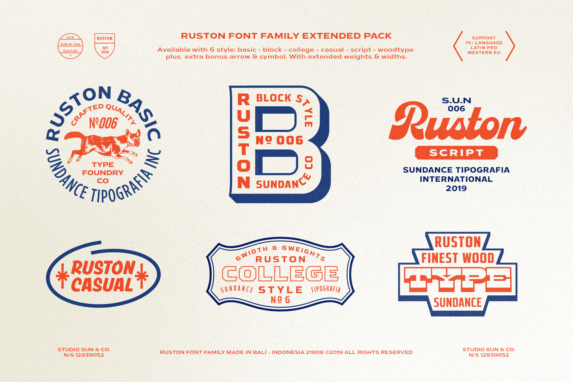 Ruston Font Family example image 4