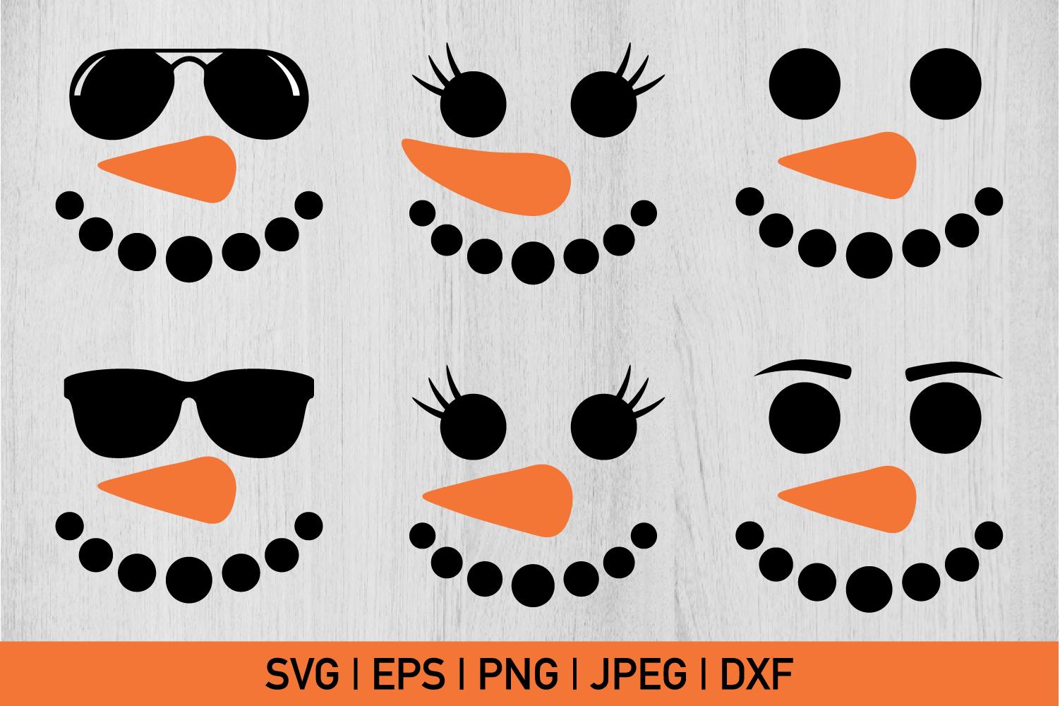 Snowman Faces Bundle example image 1