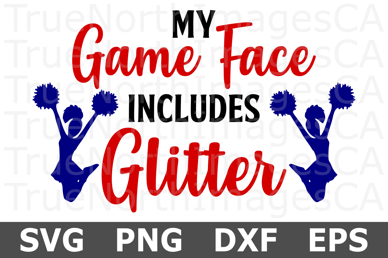 My Game Face Includes Glitter - A Sports SVG Cut File example image 2