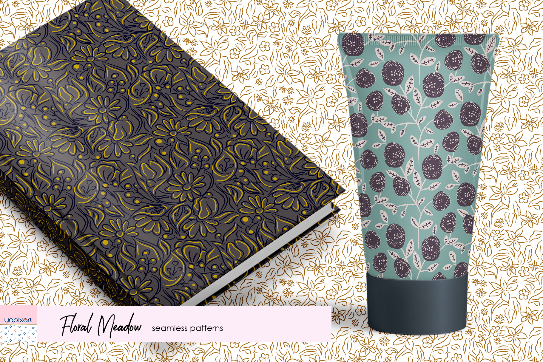 Floral Meadow - Seamless Patterns example image 4