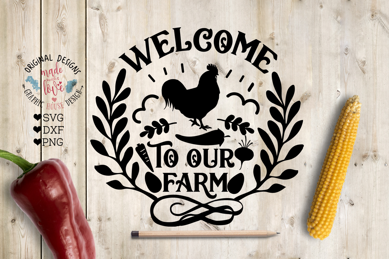 Welcome to Our Farm - Farmhouse Cut File example image 1